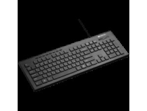 Multimedia wired keyboard, 105 keys, slim and brus...